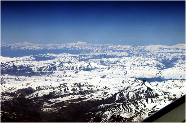 Andes Mountains, aereal view