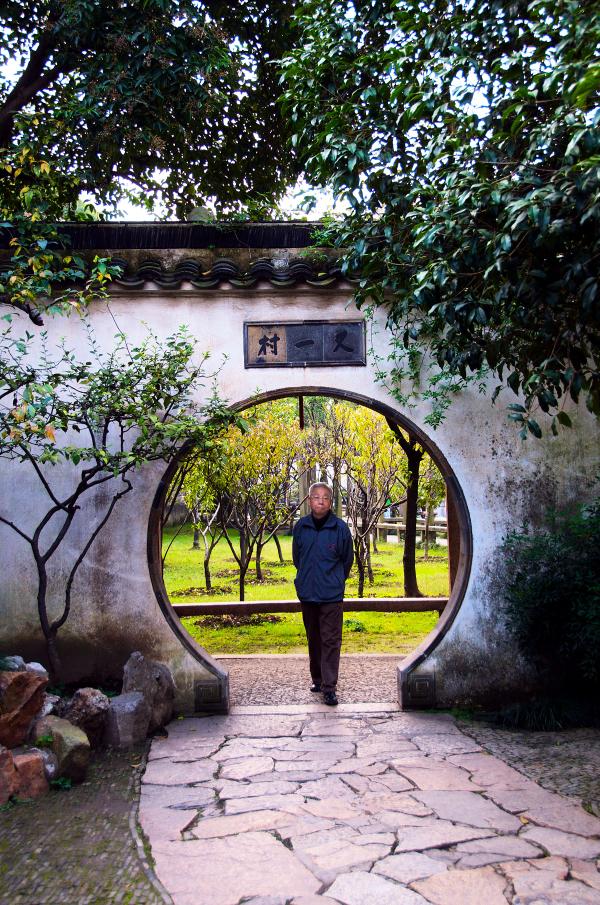 Man in Lingering Garden