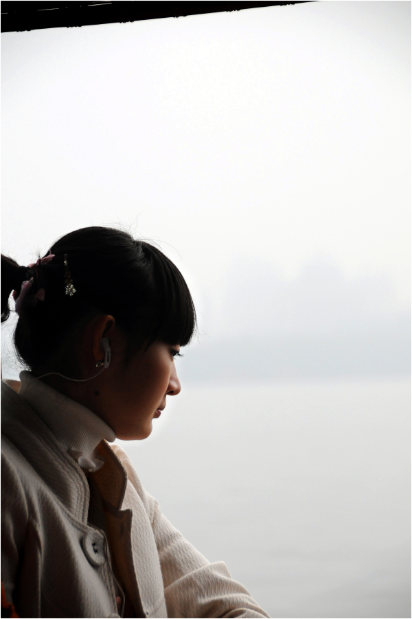woman pensive portrait