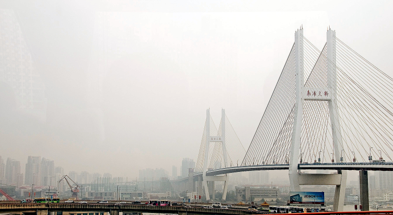 Nanpu suspension bridge Shanghai