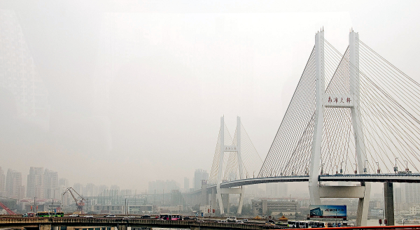 Nanpu suspension bridge Shanghai