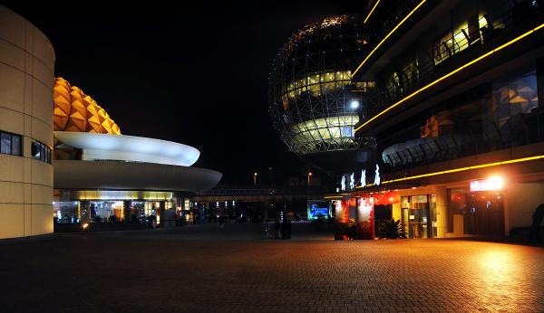 Geodesic Shape theater Shanghai China