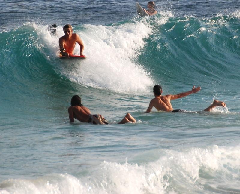 surfing Kauai waves