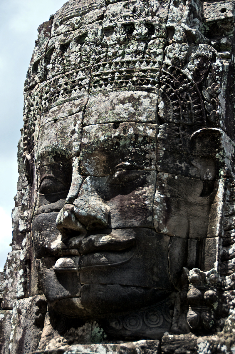 Face sculpture, Angkor Thom Cambodia