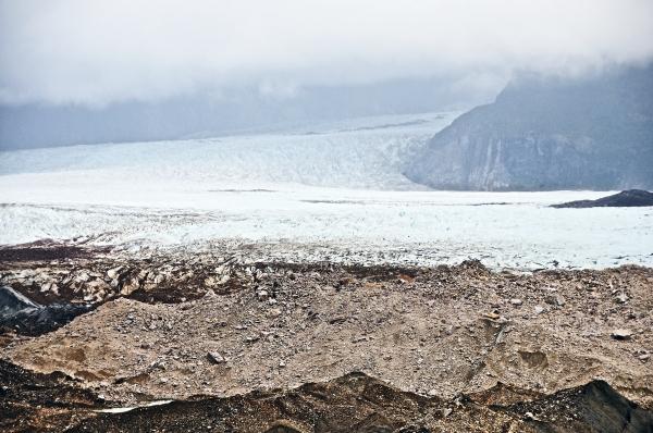 Glacier Exploradores Aysen Chile moraine