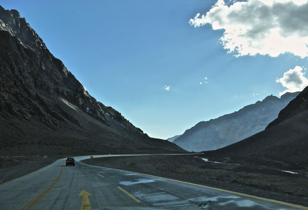 Road over the Andes