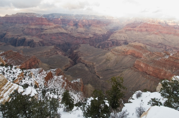 Grand Canyon South Rim  in winter