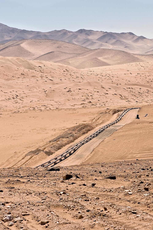 Laying pipeline Atacama Desert