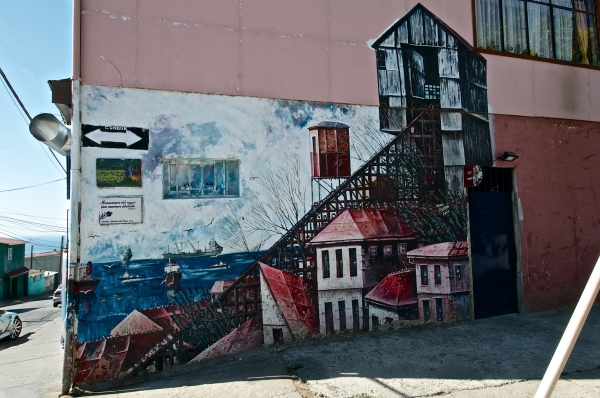 Streets Valparaiso Chile