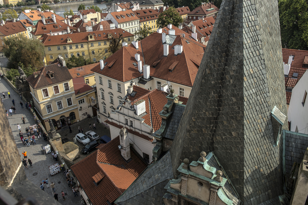 Streets and Roofs of Prague Czech Republic