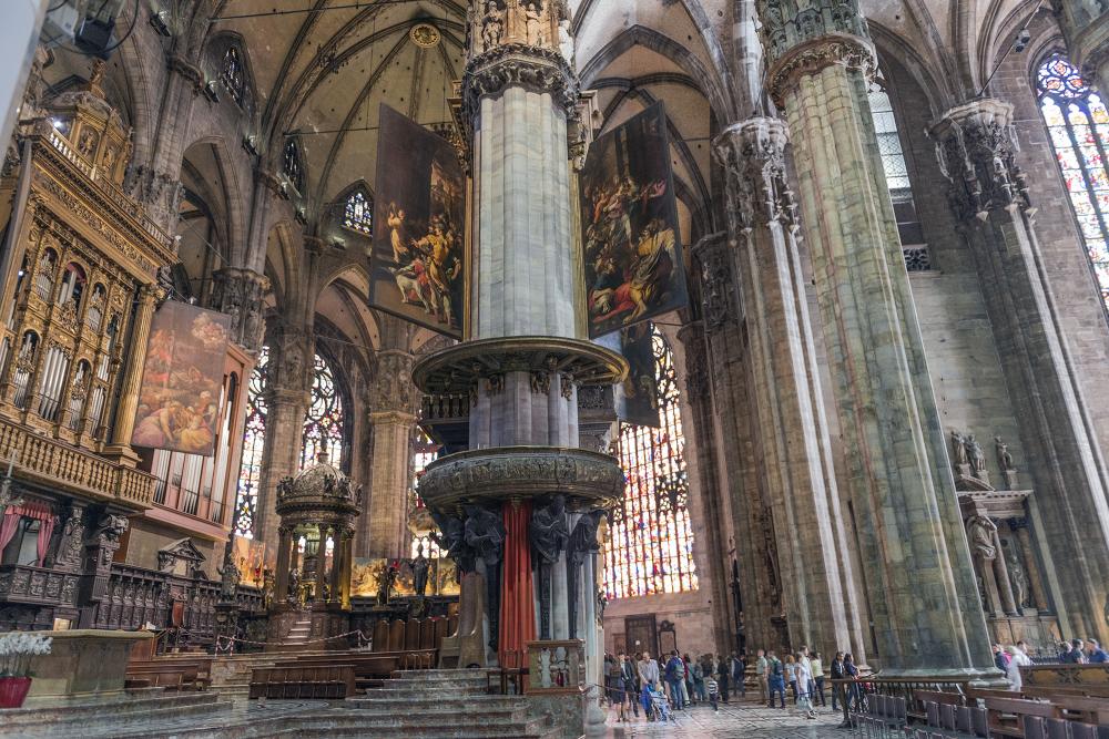 Duomo Interior Milan Italy