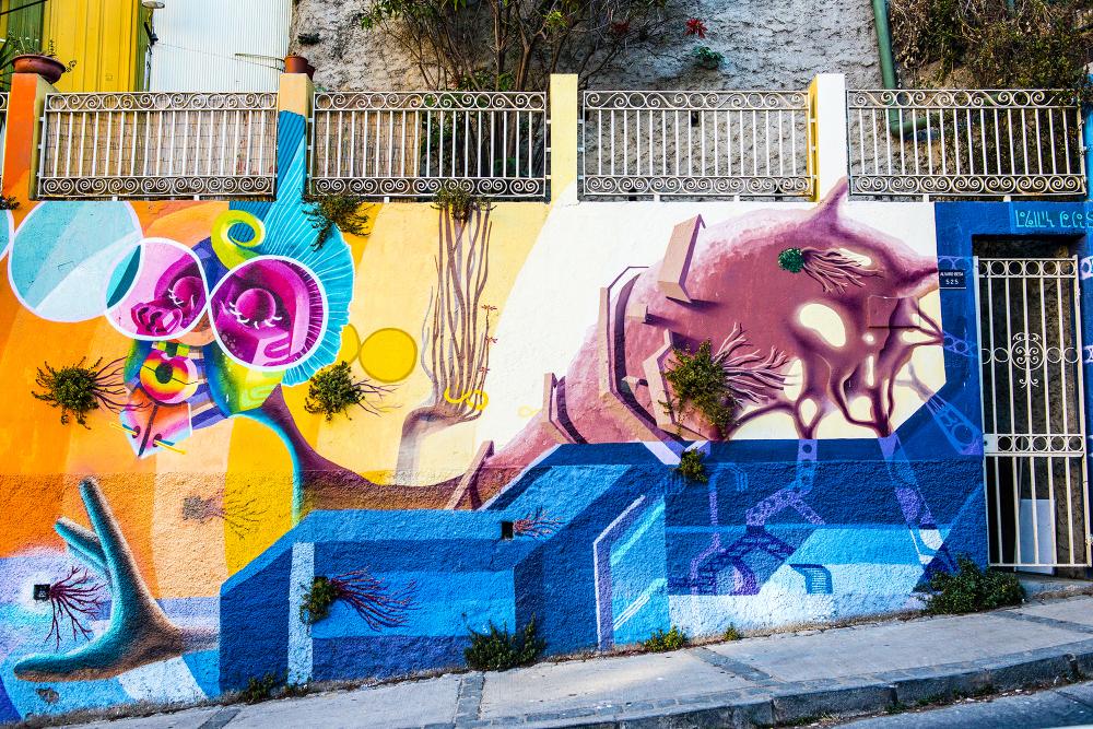 Valparaiso Murals Chile UNESCO siste