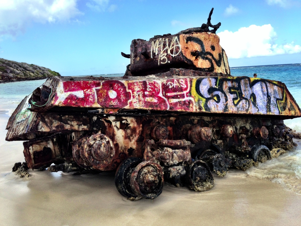 Sherman Tank Flamenco Beach Puerto Rico