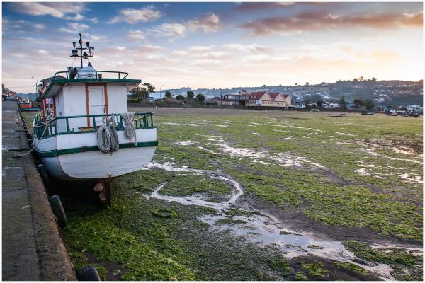 Low tide Achao, Chiloe, Chile