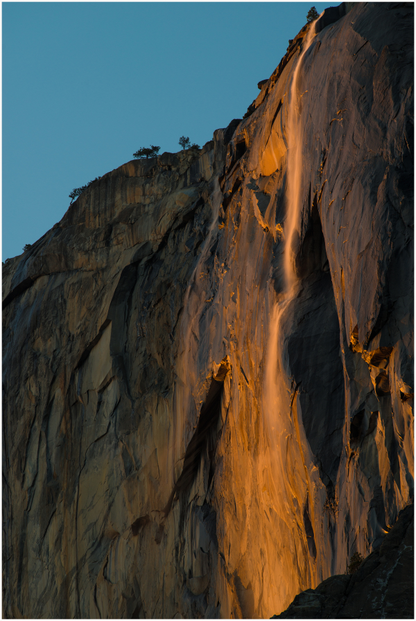 Horse Tail Fall El Capitan Yosemite