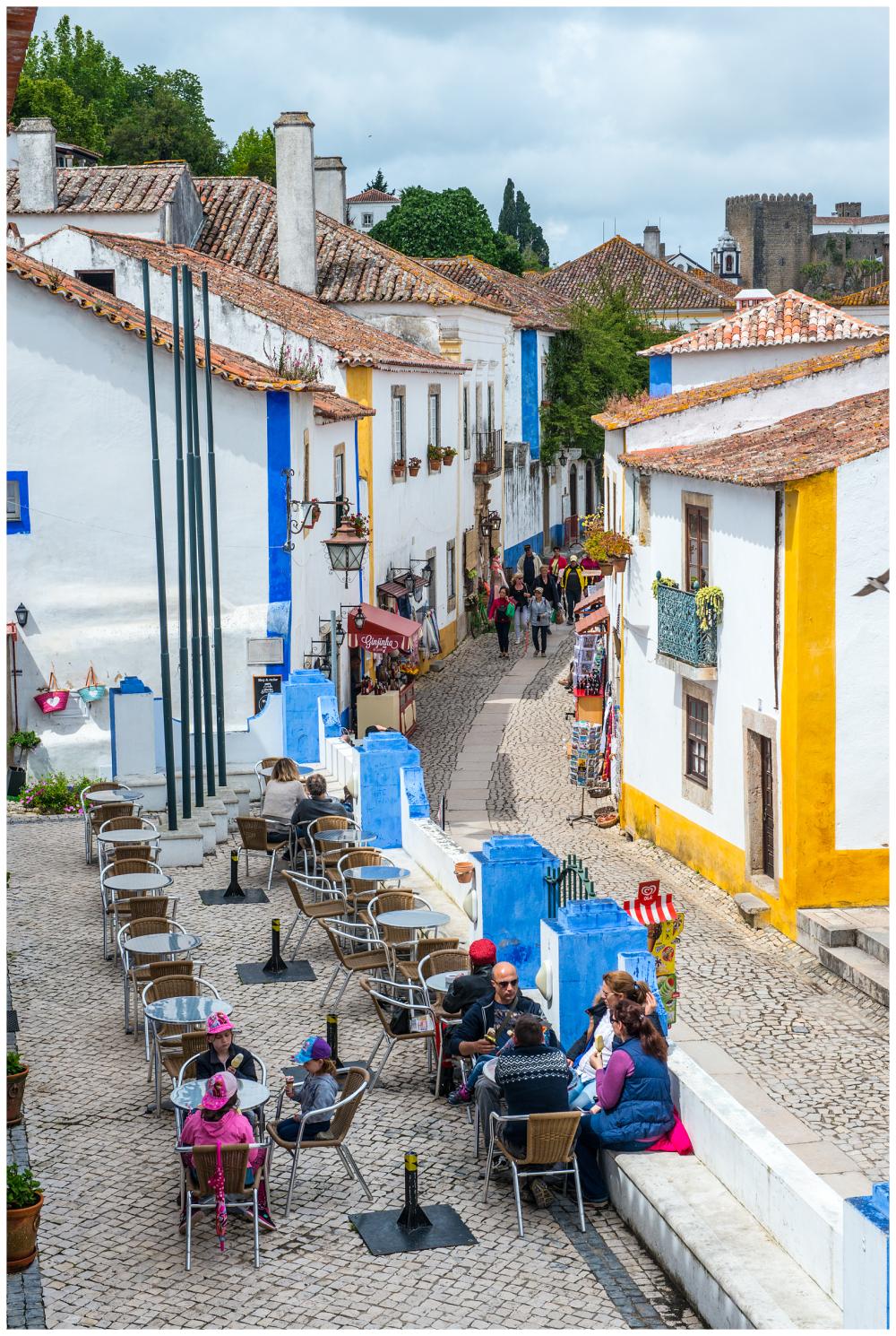 Street Scene Obidos Portugal