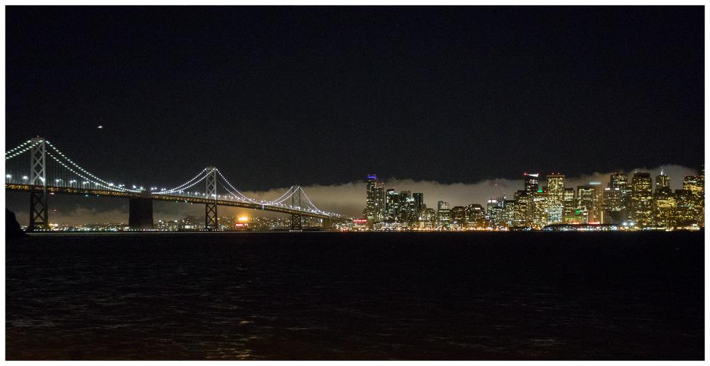 San Francisco at night clouds