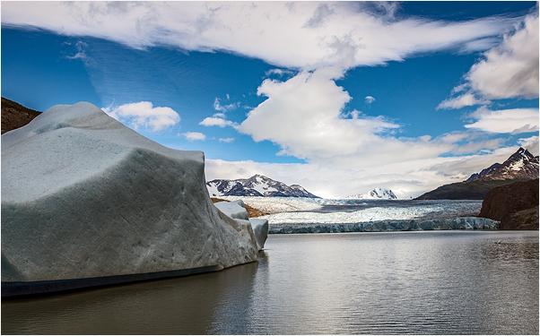 Iceberg glacier Torres del Paine National Park Chi