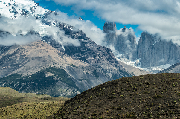 Guanacos and Mountains