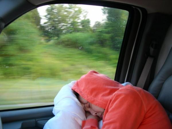orange on the road