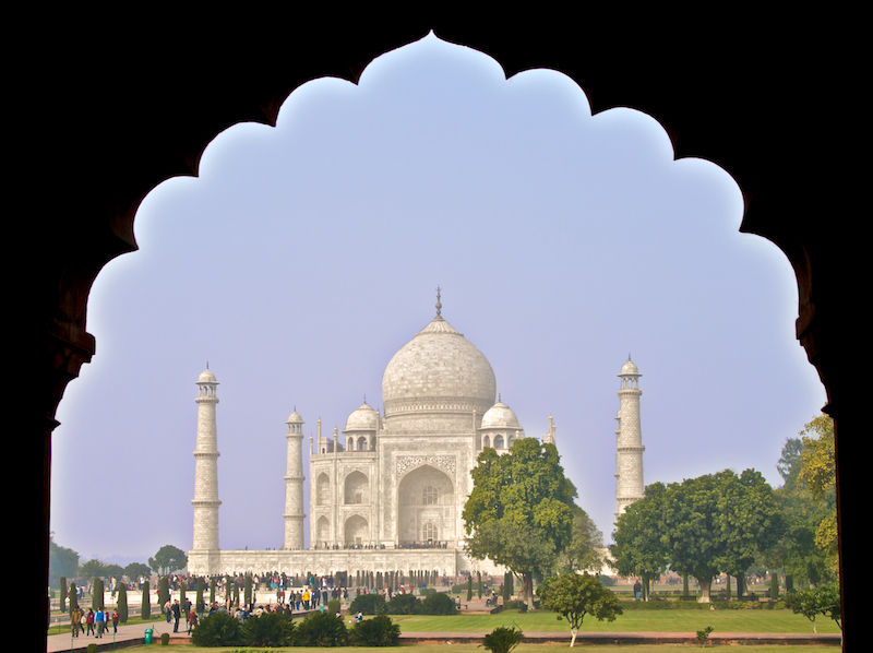 Taj Mahal Seen Through Arches - Agra, India