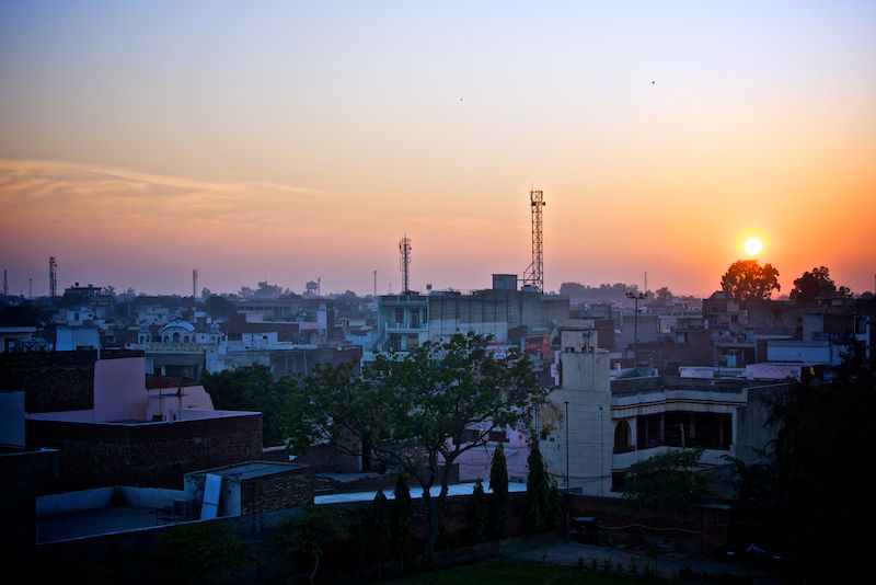Sun Setting over Bathinda India