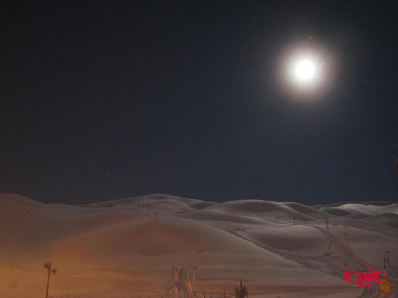 snow & moon
