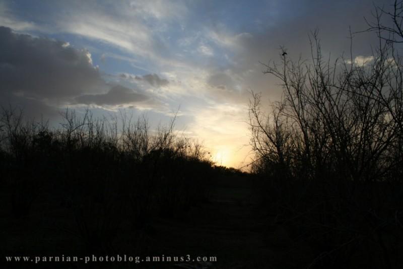 rural sunset!