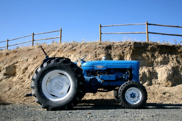 Blue Tractor, Blue Sky