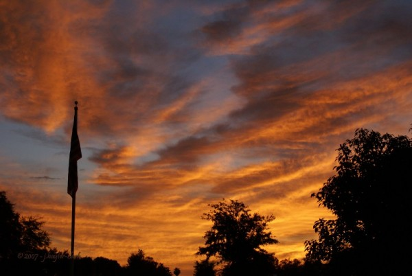 The day begins over west-central Florida