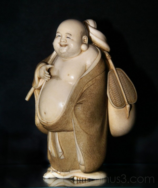 Hotei, the god of contentment and happiness...