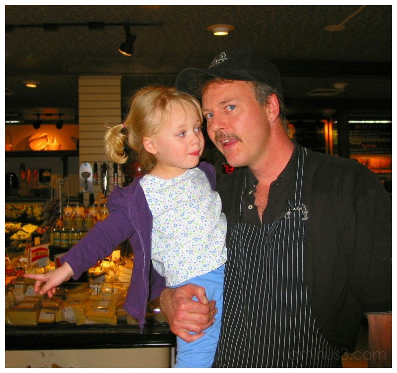 Kayla with Daddy at Tony's in Denver