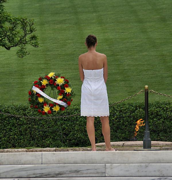 Bridget in Arlington Cemetery