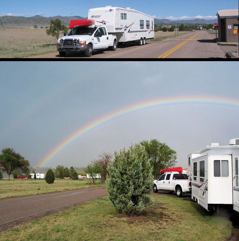 Rainbows over our 'home'...