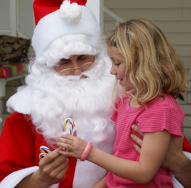 Fiona w/Santa...