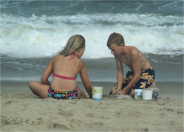 Cousins in the sand...