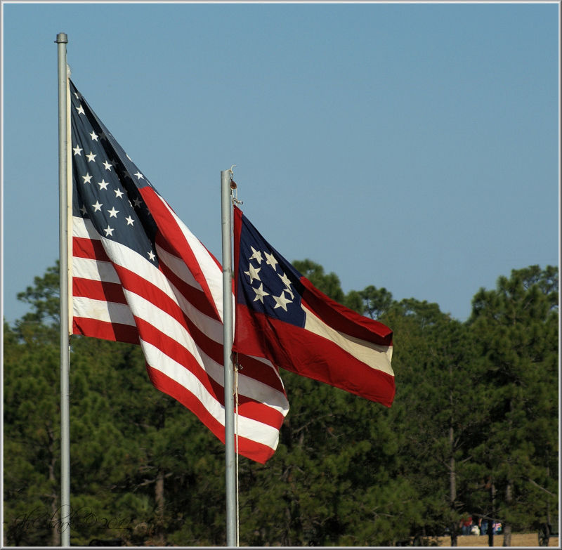 Union & Stars 'n Bars Flags