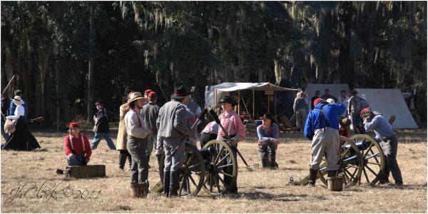 Confederates' activities in their camp...