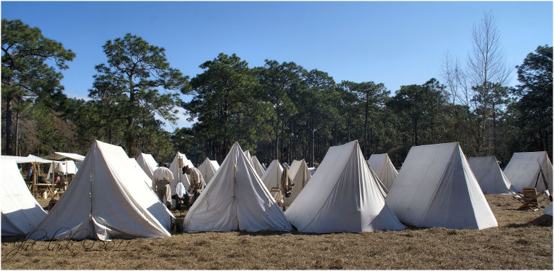 Confederate camp...