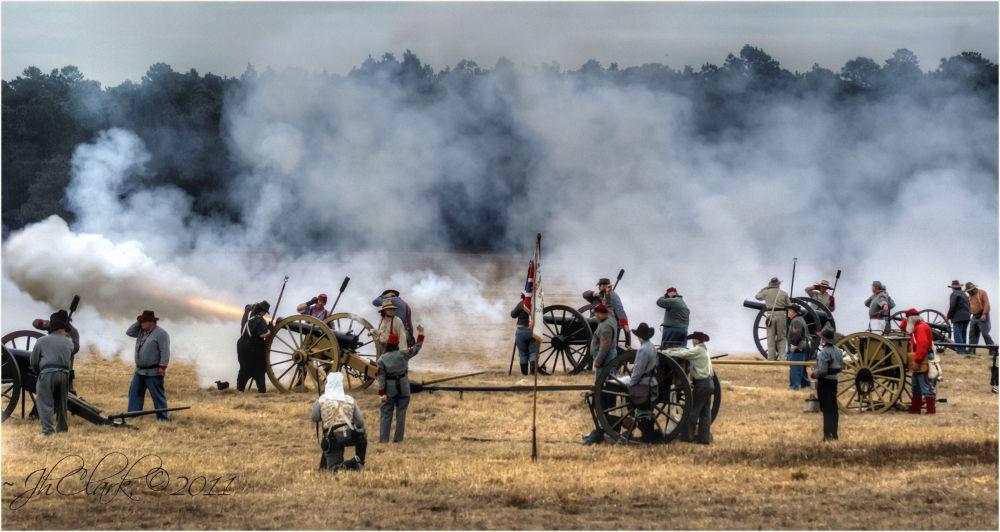 Canons firing...