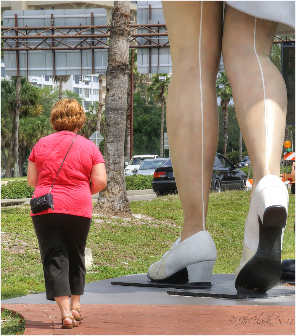 Statue and scale...