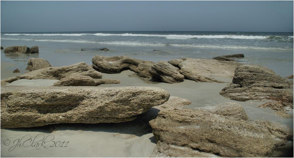 Coquina rock formations...