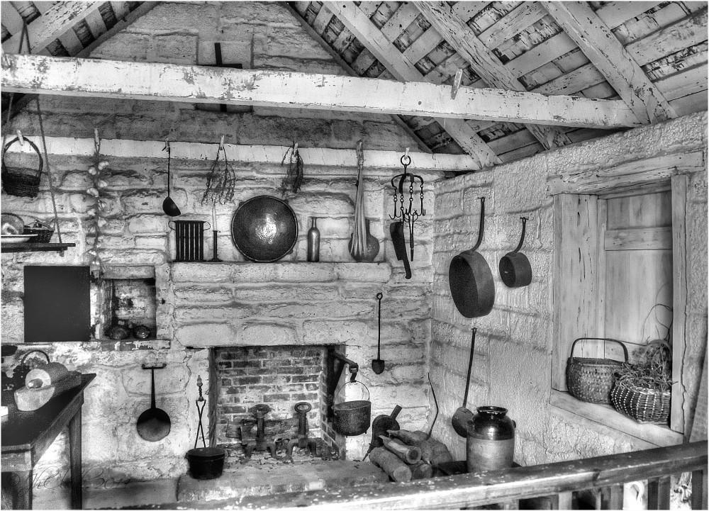 Outdoor kitchen interior...