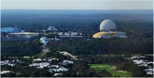 Epcot pulled into view...