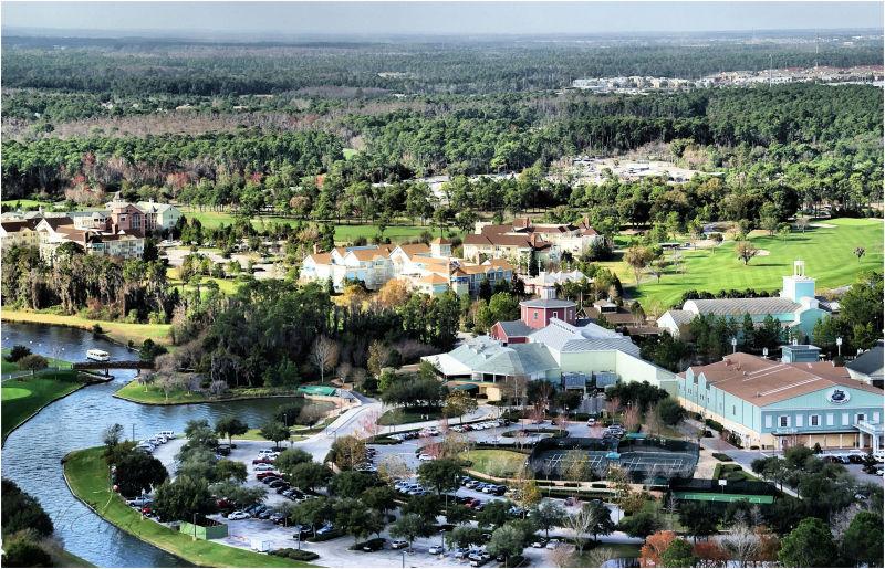 Disney properties below me...
