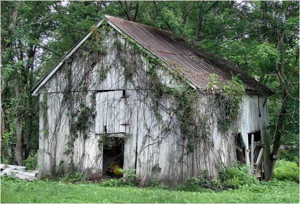 Well-loved barn...