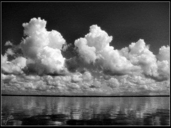Clouds over the St. Johns River...