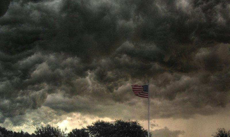 TURMOIL: a storm in the east...