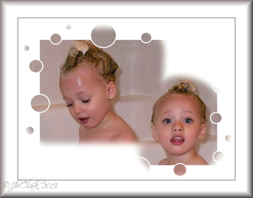 Shampoo topknot...
