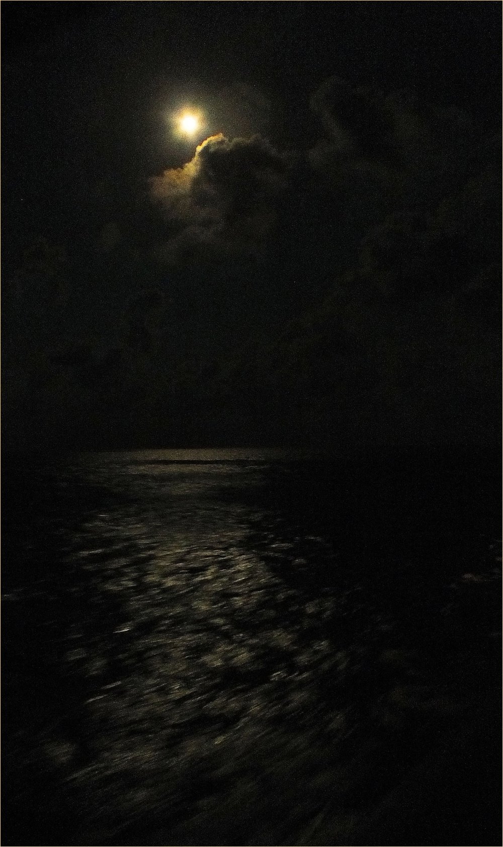Moon over the ocean...